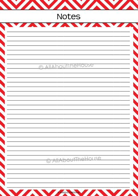 printable paper for notes chevron planning printable allaboutthehouse printables