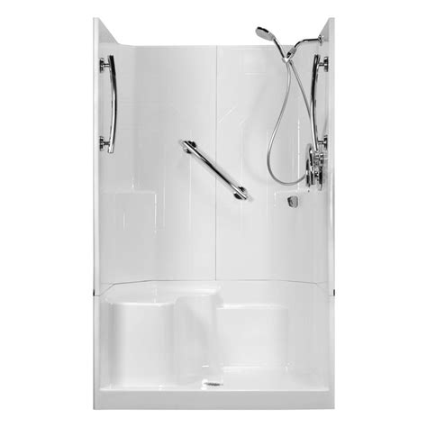 3 Shower Stall With Seat Ella 48 In X 36 In X 80 In 3 Low Threshold Shower