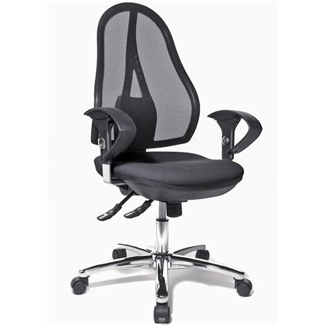 open mesh seat office chair topstar open point office chair with armrests black