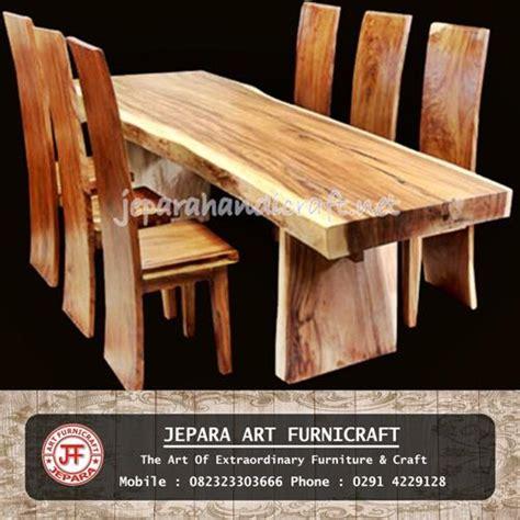 Set Meja Makan Trembesi jual set kursi makan antik trembesi solid wood murah