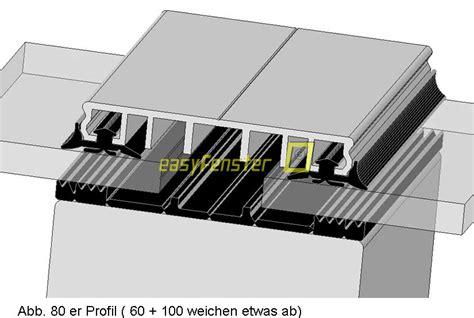 klemmprofile glasdach verlegeprofil 60 mit gummi in 2000 mm lang