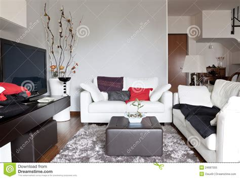 free couch tv interior of a living room sofa and tv royalty free stock