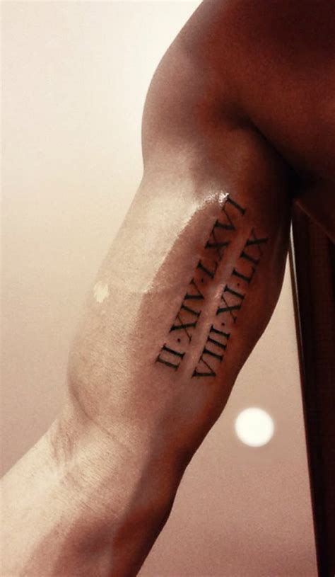 roman numerals tattoo best 25 numeral tattoos ideas on