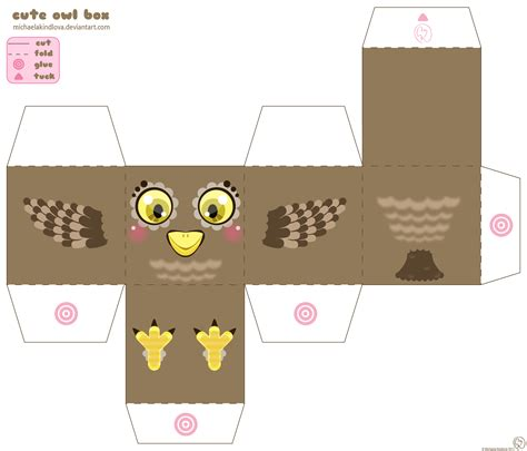 Owl Papercraft - owl box by michaelakindlova on deviantart