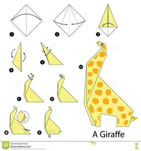 How To Make Paper Giraffe - step by step how to make origami a giraffe