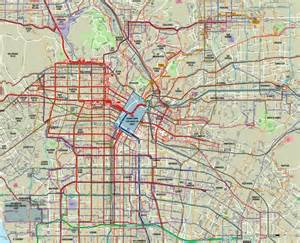 Los Angeles Transit Map by Metro Bus Los Angeles Map