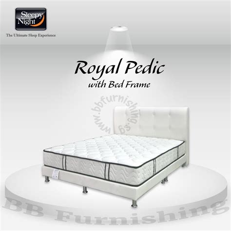royal pedic mattress with free bedframe delivery promotion