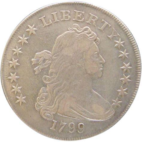 1799 Draped Bust Dollar 1799 draped bust silver dollar irregular date 15 bolender 4 from treasures and pleasures