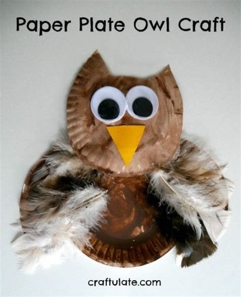Paper Plate Owl Craft - diy birds craft 24 easy paper owl craft ideas for