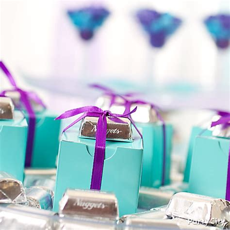 purple and blue buffet chocolate bar gift accent idea purple and blue