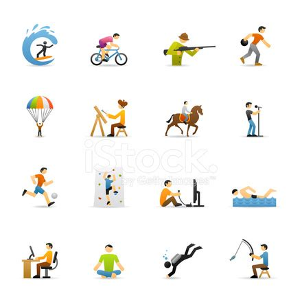 imagenes de hobbies en ingles iconos de colores hobbies fotograf 237 as de stock