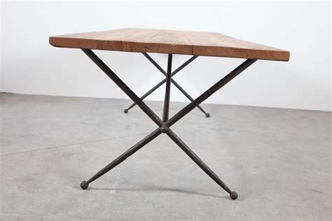 Iron Base Dining Table Iron X Base Quot Jacks Quot Dining Table With Reclaimed Wood Top At 1stdibs