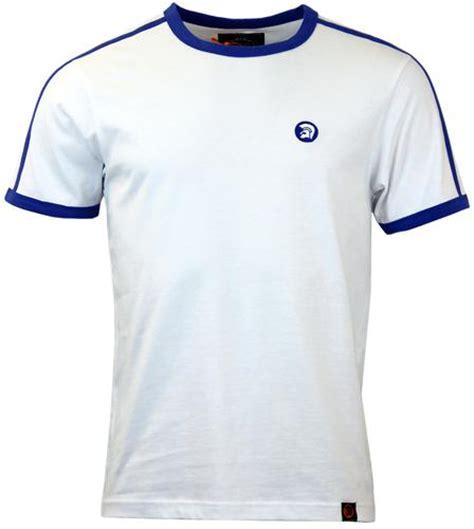 Tshirt Trojan Exclusive trojan records retro stripe t shirt in white