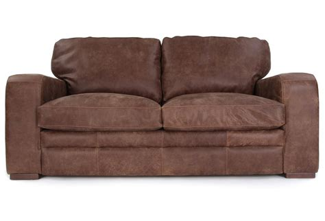 rustic leather couch urbanite rustic leather 3 seater sofa from old boot sofas