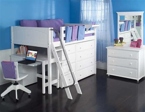 full size loft beds full size study loft bed by maxtrix kids white 638