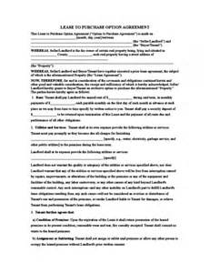 Lease To Own Template by Rent To Own Lease Agreement Template Free Rent To