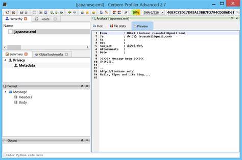 email format eml eml support cerbero blog