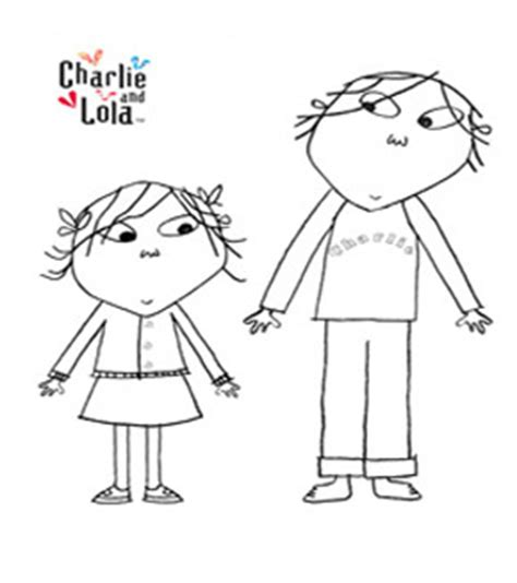 free online charlie lola colouring page
