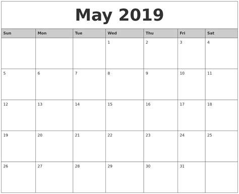 Calendar 2019 Word 2019 Printable Calendar Word 2018 Calendar With Holidays
