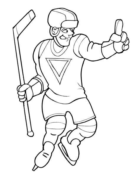 simple hockey coloring pages free nhl players coloring pages