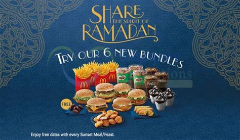 Mcdonalds Deal Calendar Mcdonald S Mcdelivery New Ramadan Bundle Combo Meals 19