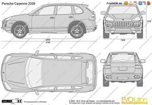 Porsche Cayenne Measurements The Blueprints Vector Drawing Porsche Cayenne
