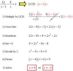 solve rational equations with gradea