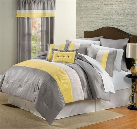grey bedding ideas yellow and grey bedroom decor peenmedia com