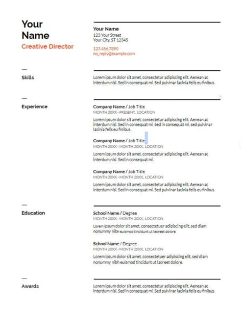 29 Google Docs Resume Template To Ace Your Next Interview Docs Resume Templates 10