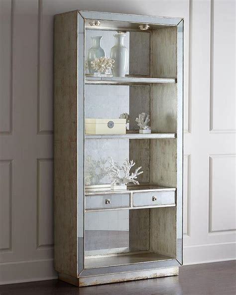 bookcase with mirror john richard collection regent mirrored bookcase i horchow