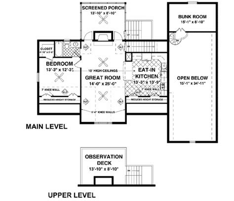 house plans with observation room rv garage with observation deck 20083ga architectural