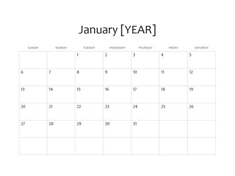 one month calendar template one month basic calendar any year office templates