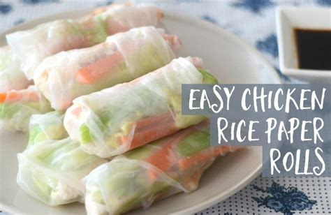 How To Make Chicken Rice Paper Rolls - easy chicken rice paper rolls kid magazine