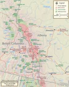 rockies canada map map of canadian rockies search canadian rockies