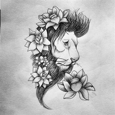 lotus tattoo with lion lion lotus tattoo by smonters on deviantart