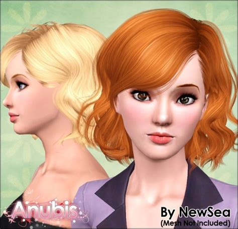 sims 2 short curled bob curly bob with bangs hairstyle newsea s only you