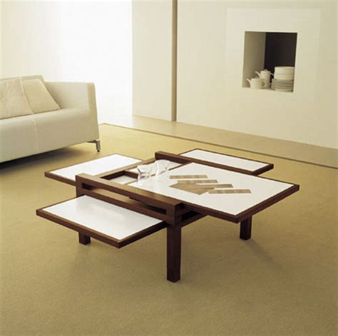 Expandable Coffee Table Cool Expandable Coffee And Dining Tables By Sculrtures Jeux Digsdigs