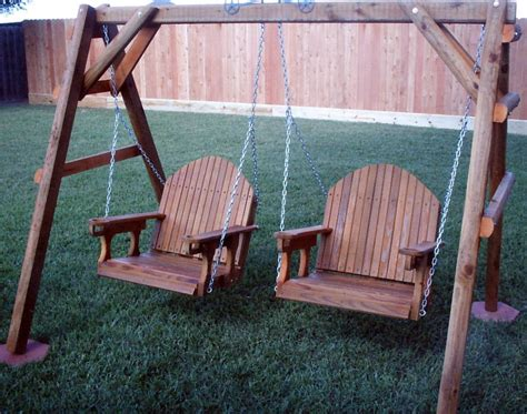 adult swing cedar creek woodshop porch swing patio swing picnic