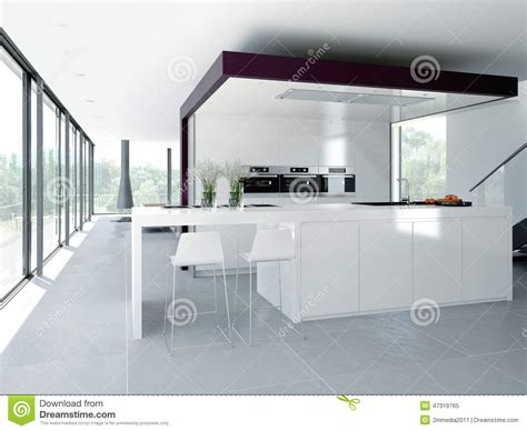 kitchen interior decor modern kitchen interior design concept 3d stock image
