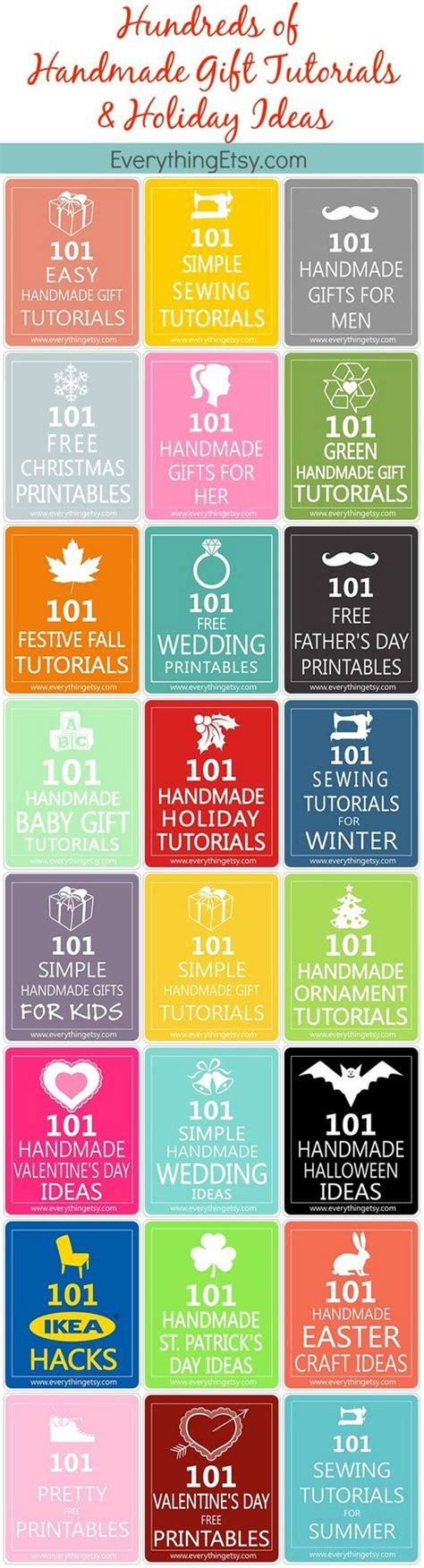 Handmade Gifts Tutorials - handmade gifts tutorials ideas hundreds of them