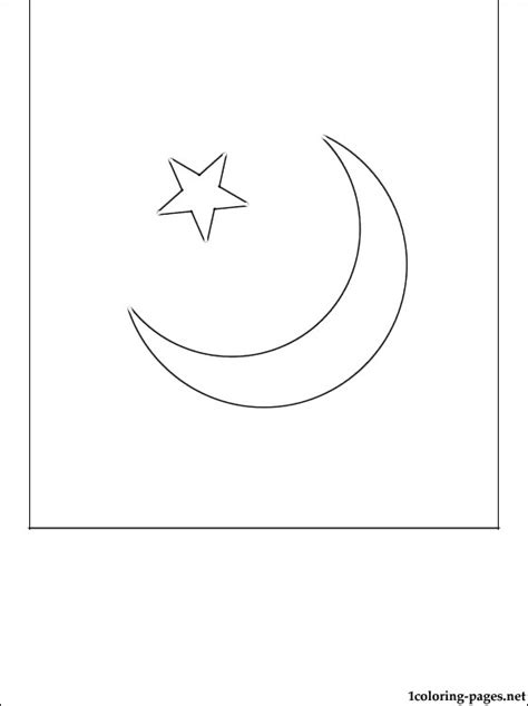 pakistan flag coloring page coloring pages