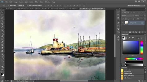 tutorial watercolor photoshop cs6 1 watercolor painting in photoshop including all tools