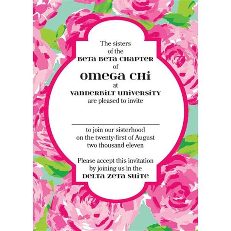 bid day card sorority template maker 17 best images about recruitment bid day on