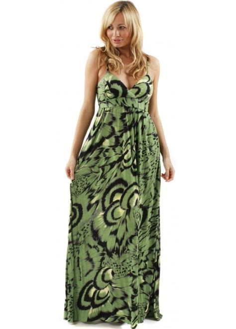 Tribal Maxy Dress traffic green tribal print maxi dress traffic