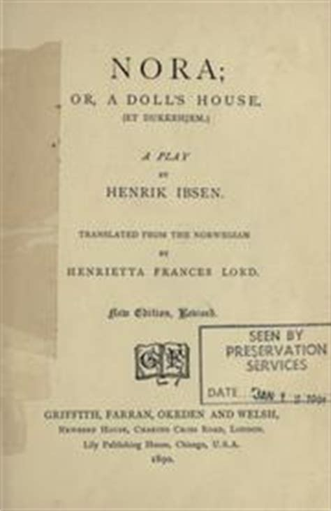 a dolls house full text nora or a doll s house et dukkehjem a play 1890 edition open library