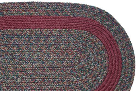 burgundy braided rug barbara blend burgundy band braided rug