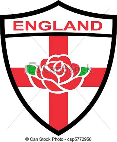 illustration de rugby angleterre bouclier rose