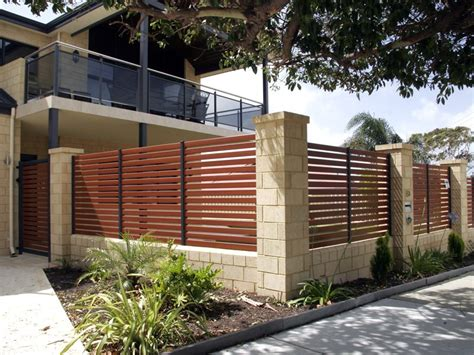 fences for houses designs modern minimalist house fence design trend in 2015 4 home ideas