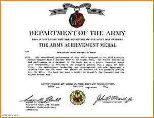 army certificate of achievement template army certificate of achievementreference letters words