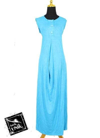 Gamis Kaos Longdress Kaos baju muslim gamis wide dress kaos tanpa lengan gamis muslim murah batikunik